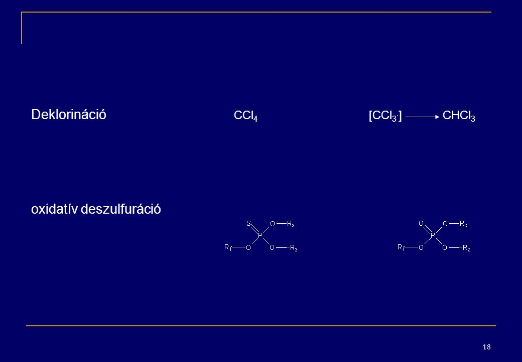 Deklorináció CCl4 [CCl3.] CHCl3